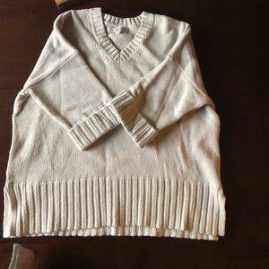 LOFT XS boxy beige sweater